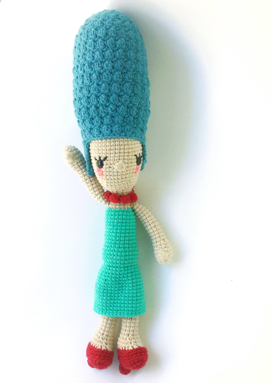 Marge Simpson Crochet Pattern/Amigurumi | Regalos de ganchillo ...