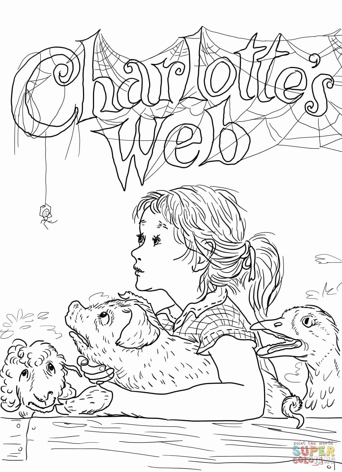 Charlottes Web Coloring Page Lovely Charlotte S Web Coloring Page Birthday Coloring Pages Coloring Pages Inspirational Halloween Coloring Pages
