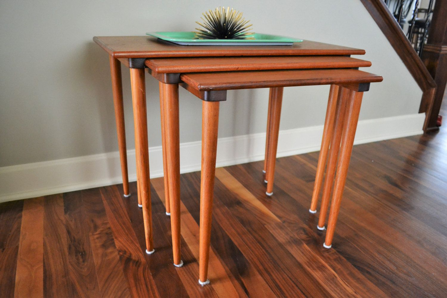 1960 S Set Of 3 Westnofa Nesting Tables Made In Norway Mid