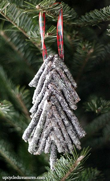 Diy Rustic Twig Christmas Tree Ornament Upcycledtreasures1