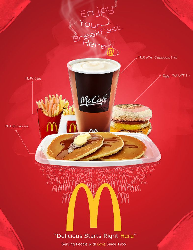 mcdonalds advertising The main aim of this research is to understand the different marketing strategies adopted by mcdonalds in order to attract the consumers towards their store even under the credit crunch situation.
