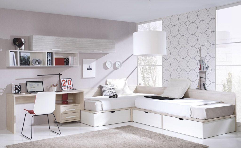 Camas en l juveniles buscar con google habitas - Dormitorio juvenil nino ...