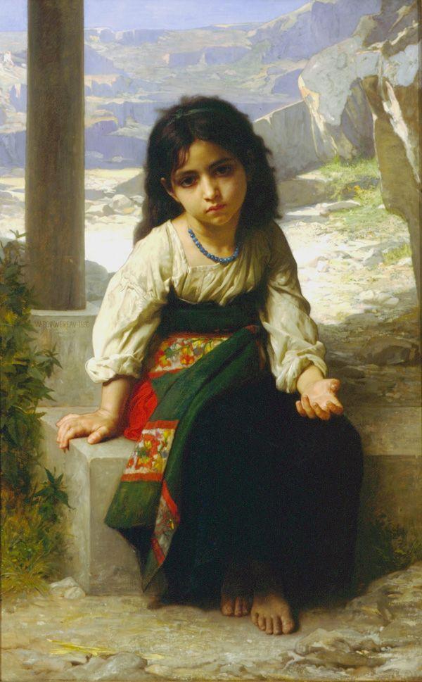 La Petite Mendiante (The Little Beggar) - William Adolphe Bouguereau