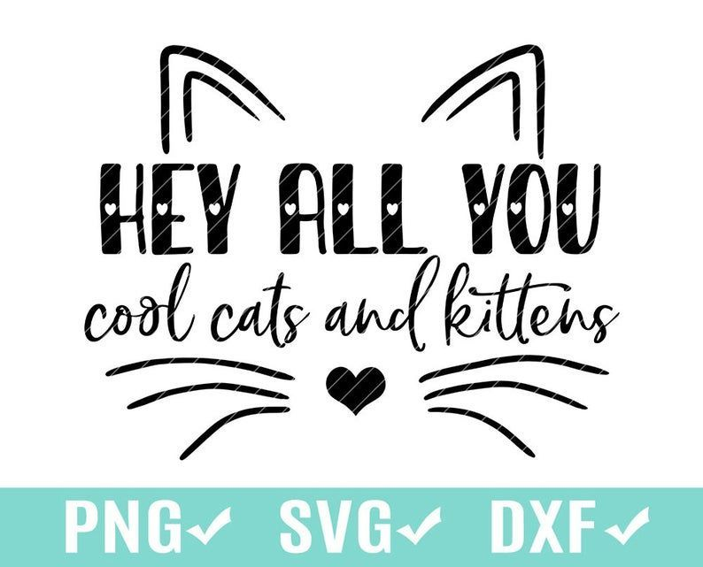 Hey All You Cool Cats And Kittens In 2020 Cats And Kittens Cool Cats Cricut Vinyl