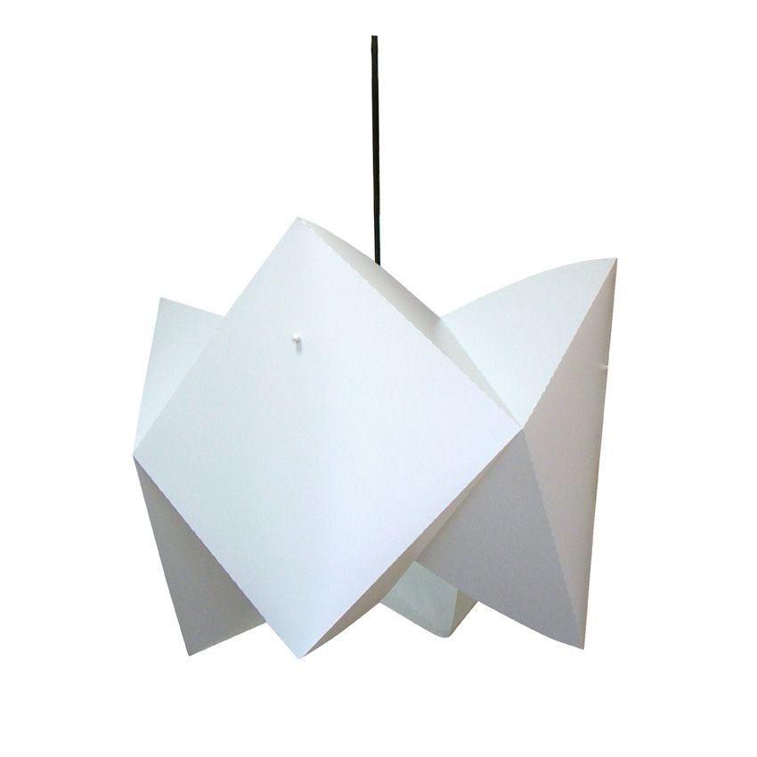 Laurie lumière luminaires éclairagesuspension origami blanche style scandinave
