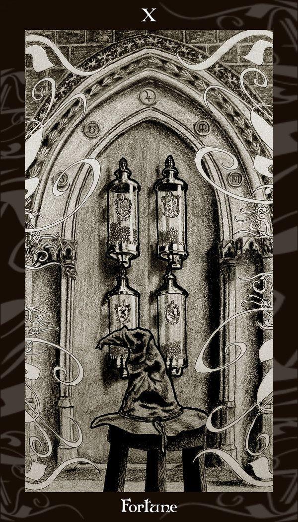 HP Tarot - 10 Fortune by Ellygator deviantart com on @DeviantArt