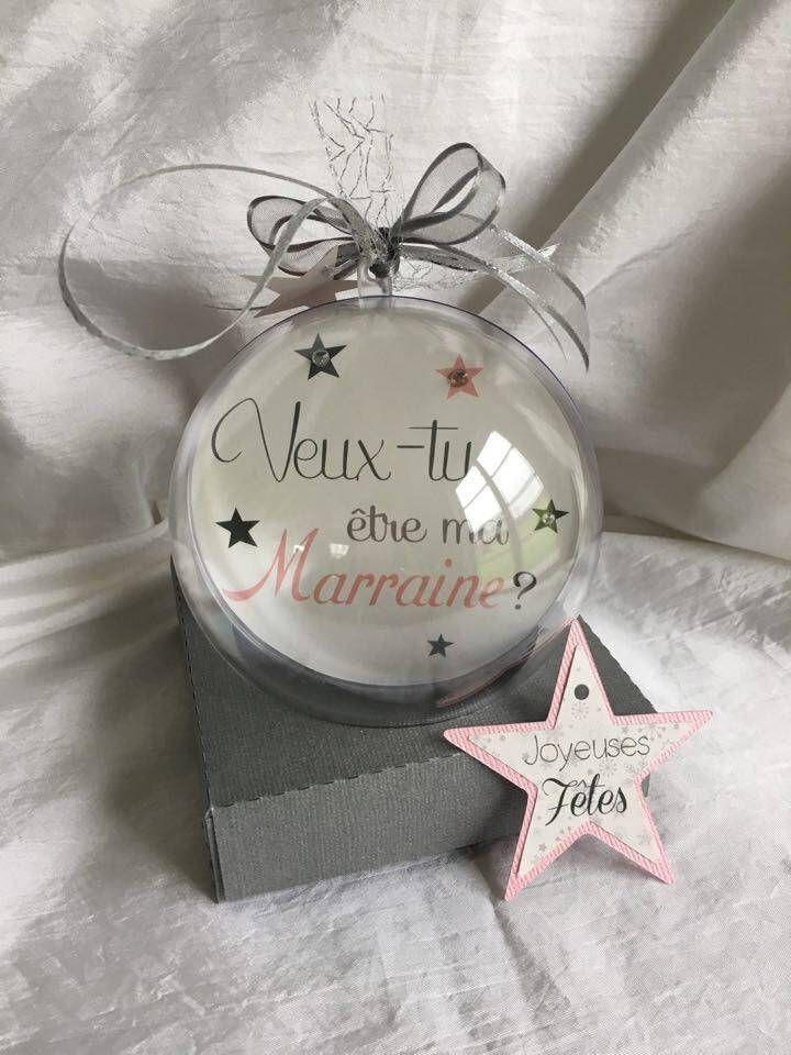 Boule De Naissance Noel 2 boules annonce naissance   photo et texte personnalisable