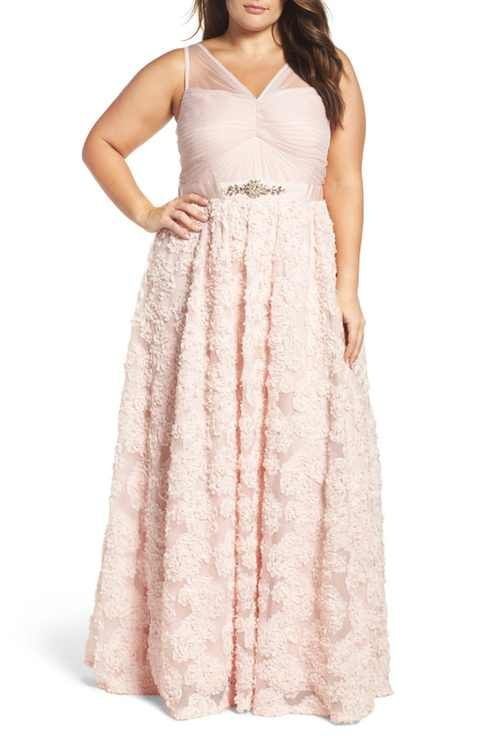 c57e02c9acd11 Adrianna Papell Embellished Petal Chiffon Ballgown (Plus Size ...