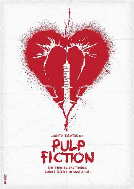 Minimalist Movie Poster: Pulp Fiction