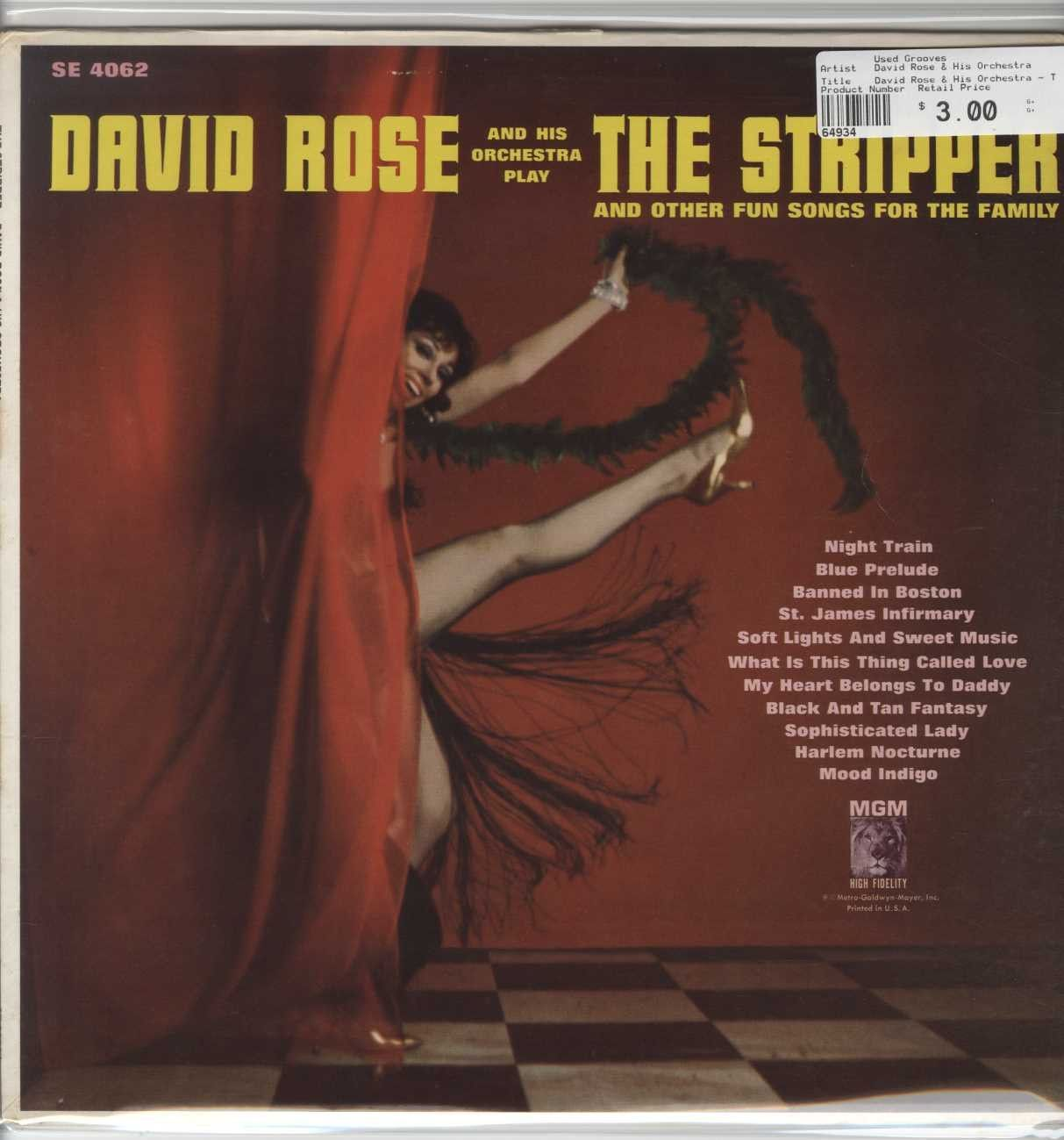 David his orchestra play rose stripper