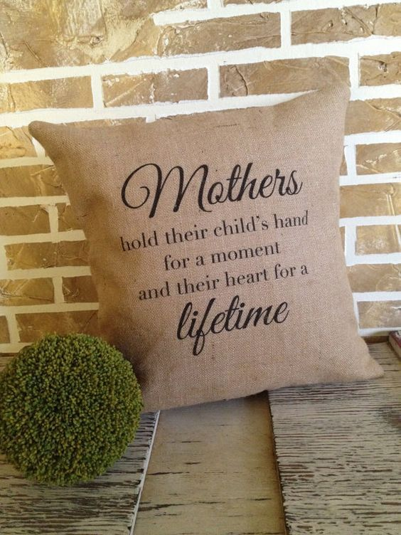 Mother\'s Day Burlap Pillow by SimplyFrenchMarket on Etsy, $40.00 ...
