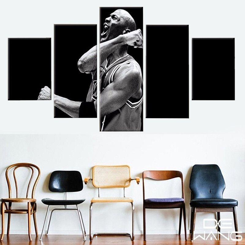 5 Panel Canvas Wall Art Nba Sport Start Michael Jordan Panelwallart Com Michael Jordan Canvas Canvas Pictures Canvas Art Wall Decor