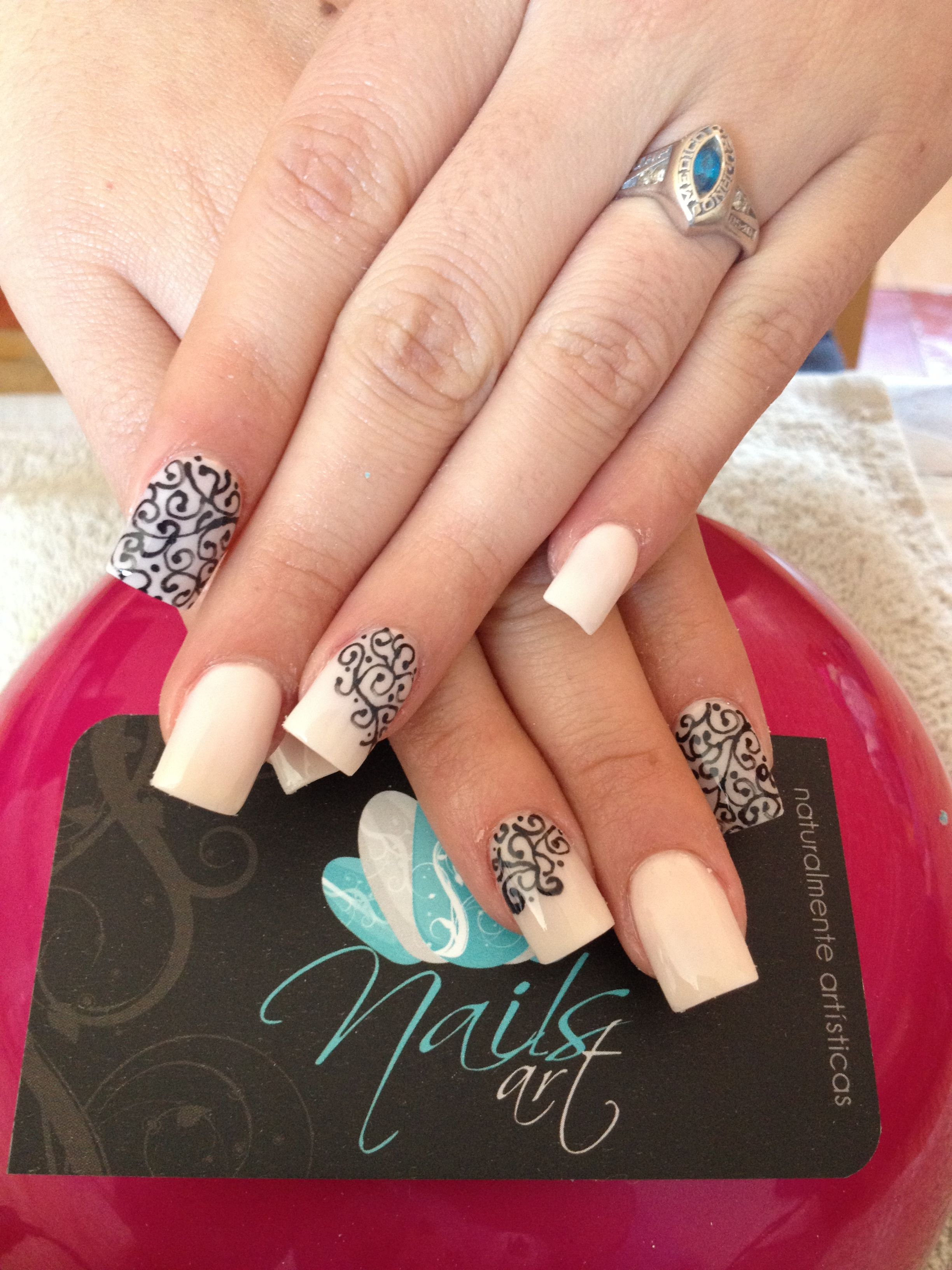 Nails art acrylic nails nude I Am So Doin This Pinterest