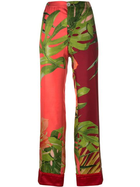 F.R.S FOR RESTLESS SLEEPERS Floral Print Pants. #f.r.sforrestlesssleepers #cloth #pants