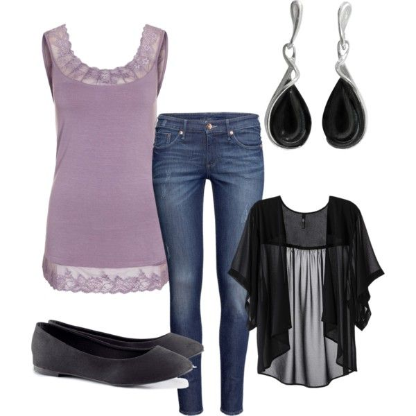 Purple and black by beccaholt, via Polyvore