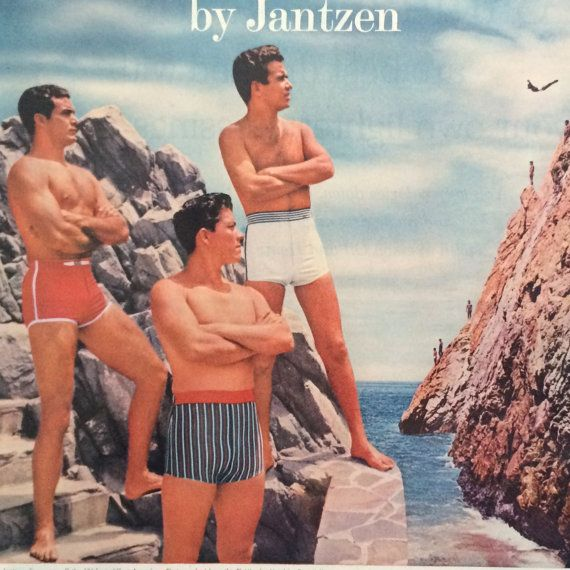 26cd7b292b Original Vintage 1950s Jantzen Men's Swimwear by Retrolane91 ...
