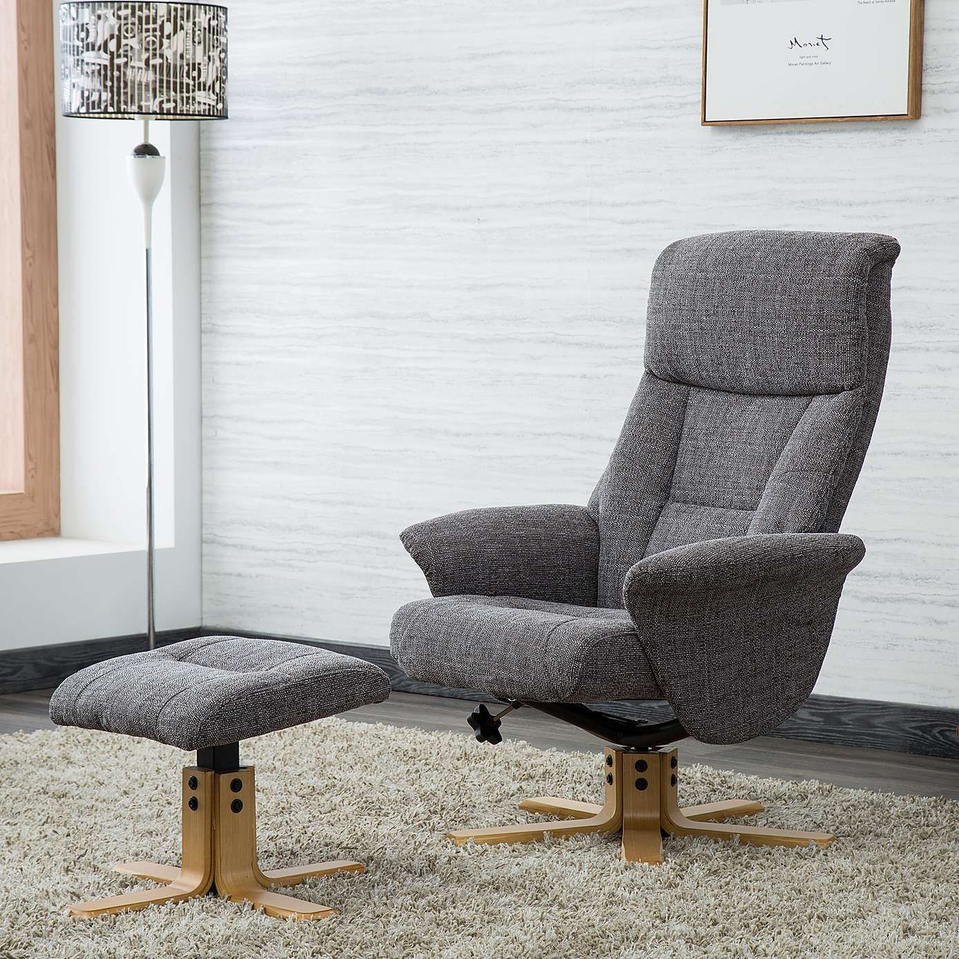 best website 7ee95 50a34 Whitham Swivel Recliner Chair - Grey   Home ideas in 2019 ...