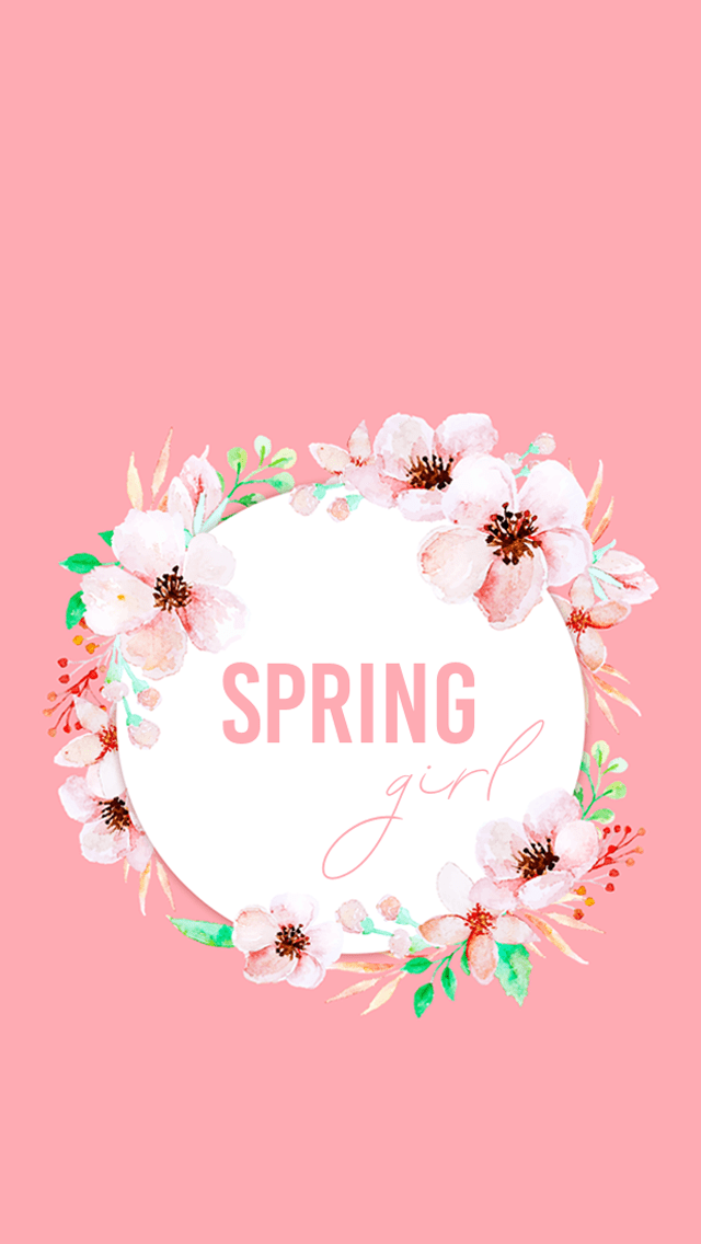 Spring Girl Wallpaper La Vie Frenchie Blog Spring Floral Wallpaper Fond D Ecran Fleuri Pour Le Printemps Wallpa Floral Wallpaper Girl Wallpaper Spring Girl