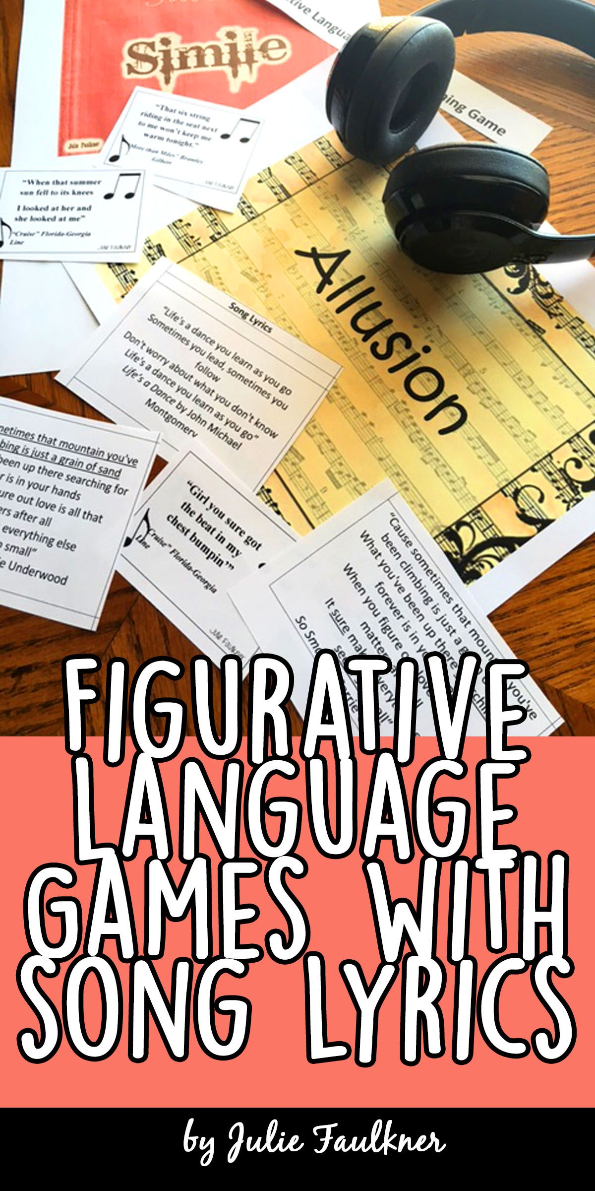 Figurative Language Interactive Review Game Popular Songs