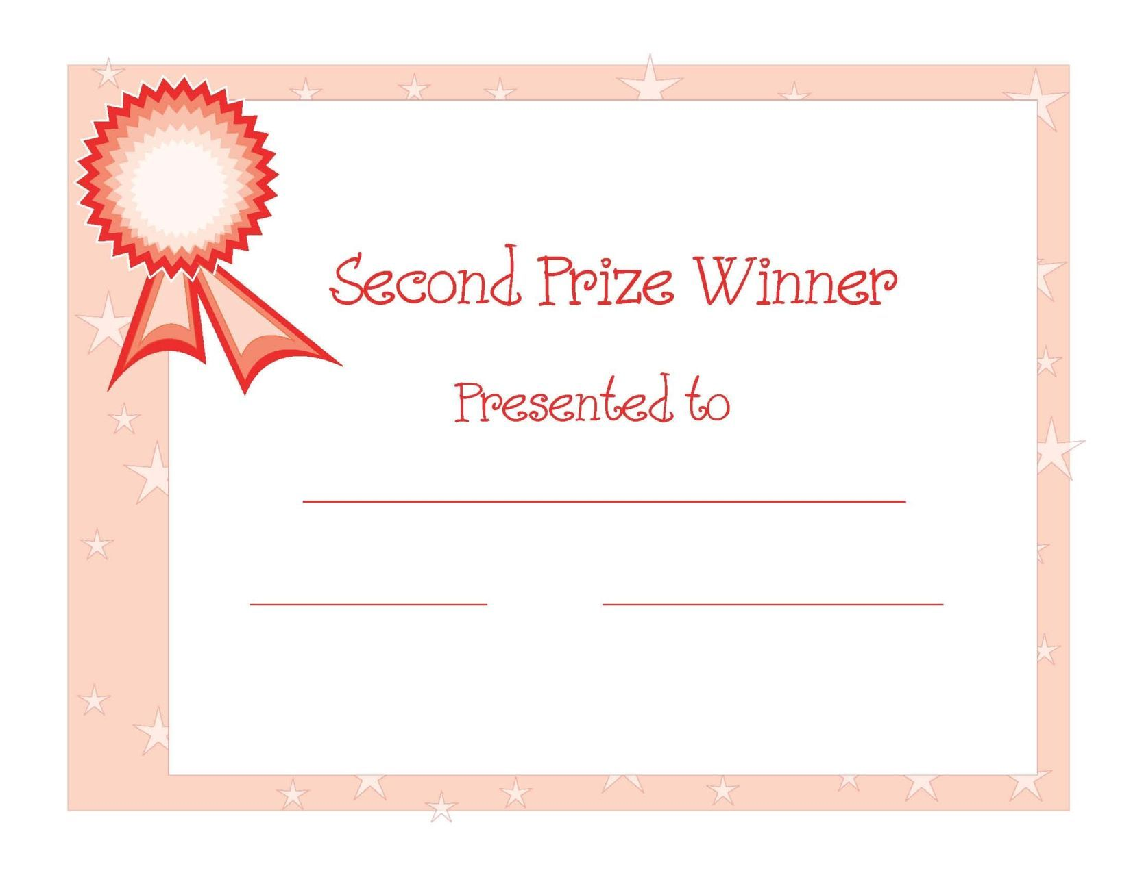 Winner Certificate Templates Free Certificate Templates