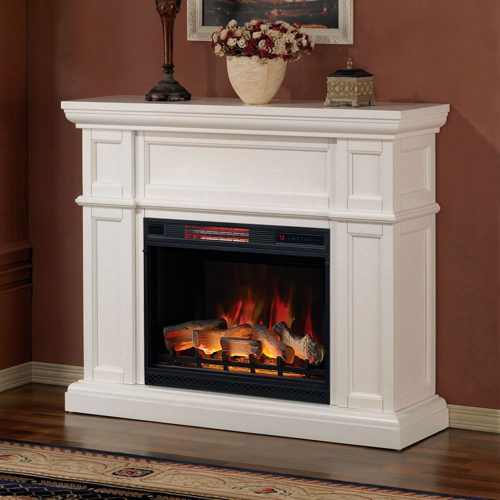 Charmant Innenkamine · Feuerstellen Aus Stein · Eckkamin Fernsehständer · Artesian  Infrared Electric Fireplace Mantel Package In White   28WM426 T401
