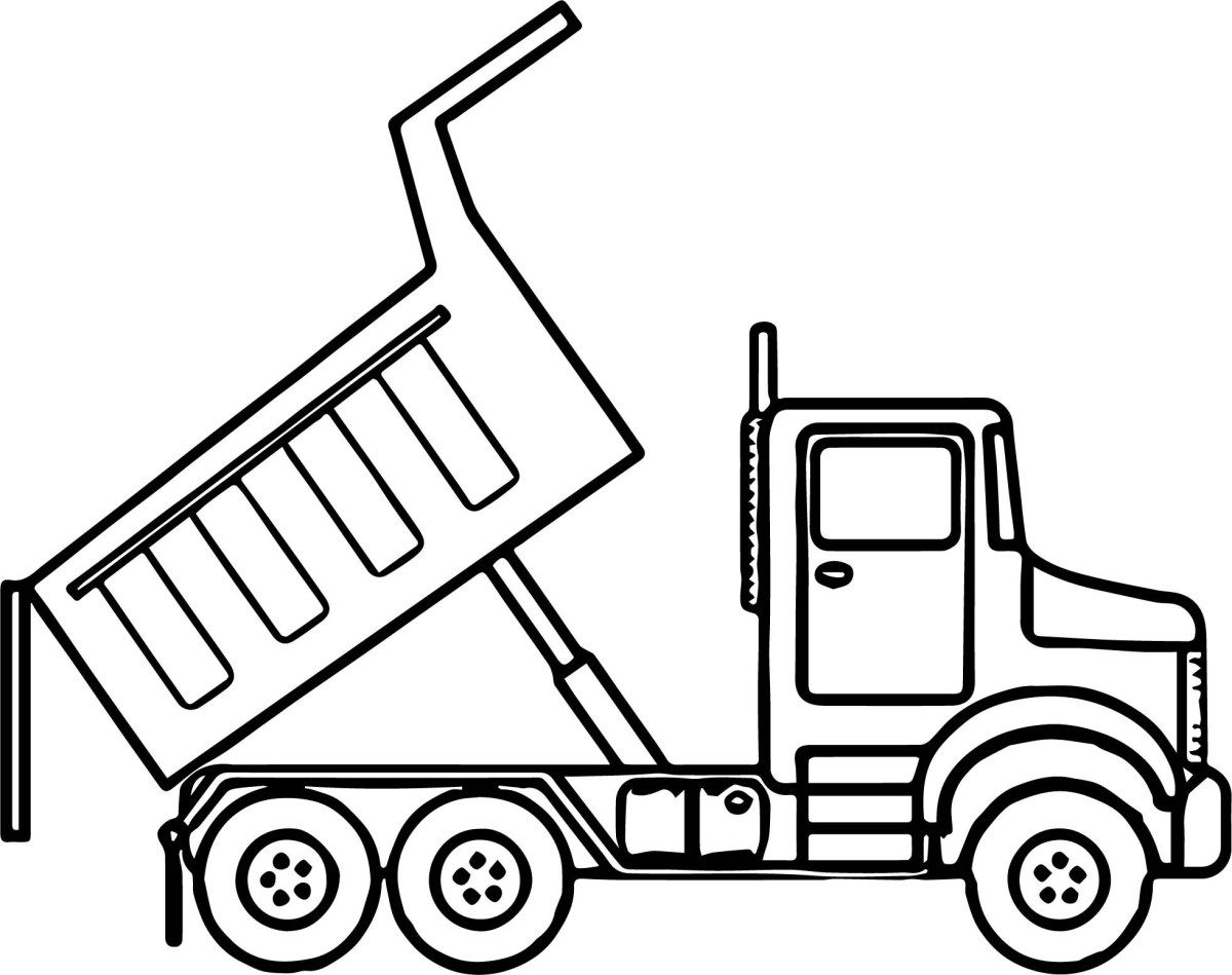 Truck Coloring Pages Scripted Dump Truck Coloring Page