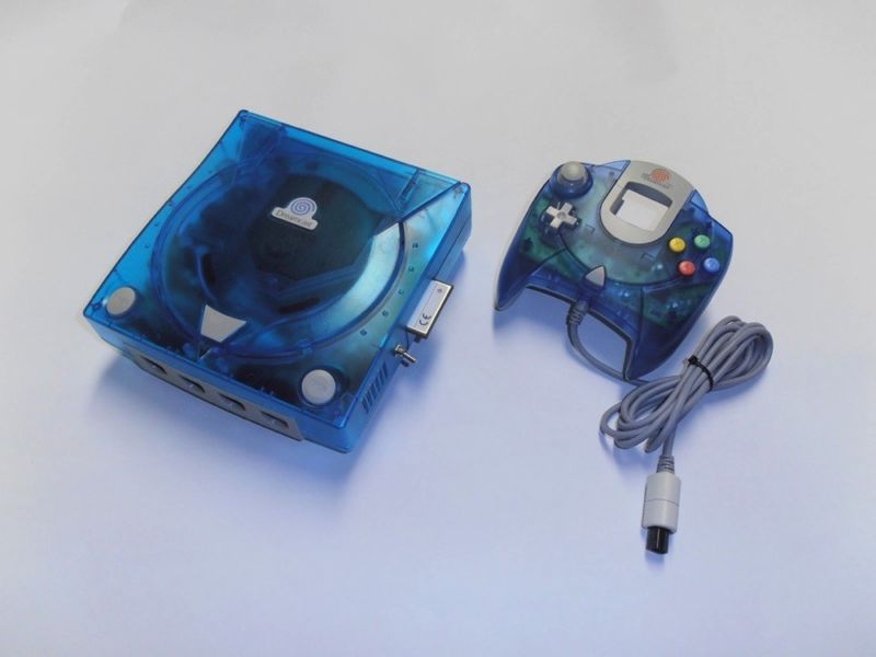 Custom Dreamcast Blue with CF VGA und BIOS Mods #retrogaming