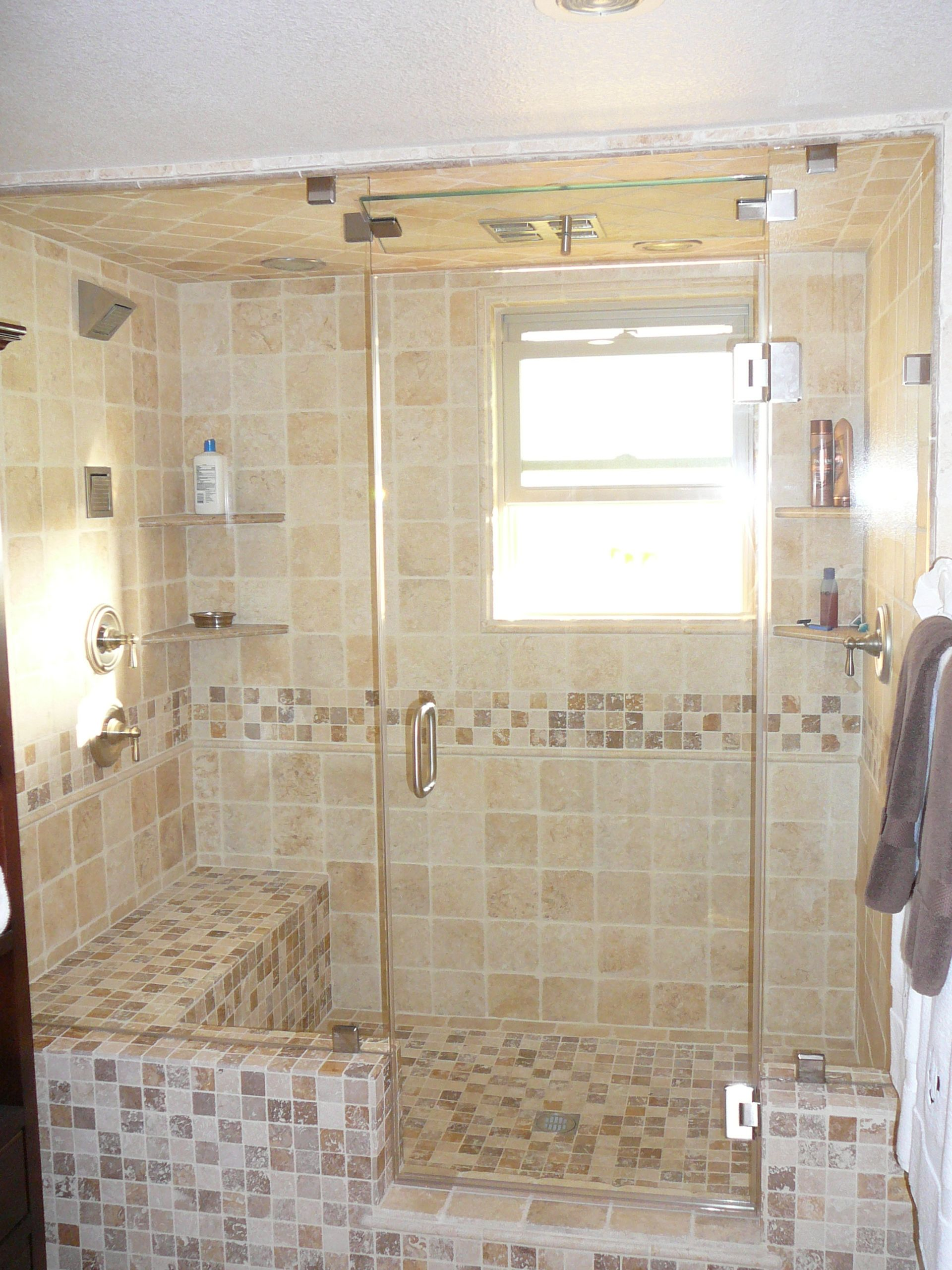 Custom Steam Frameless Shower With Transom Frameless Shower Enclosures Steam Shower Enclosure Bathroom Renos
