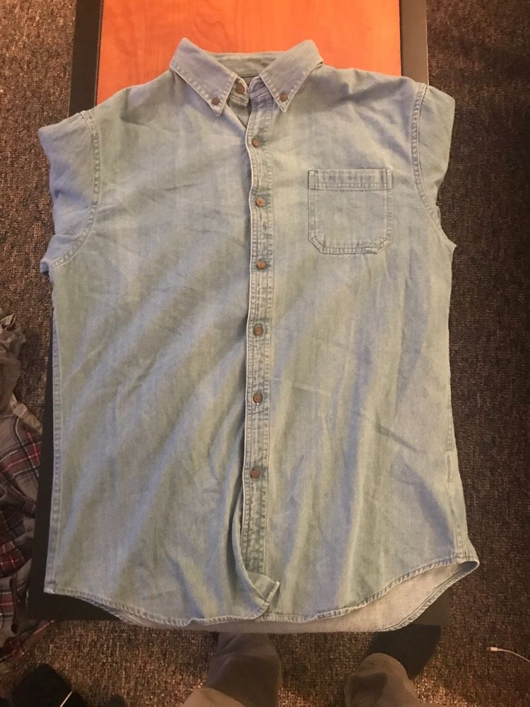 4e3969daac3 Large Mens croft and barrow M Denim Button Down  fashion  clothing  shoes   accessories  mensclothing  shirts (ebay link)