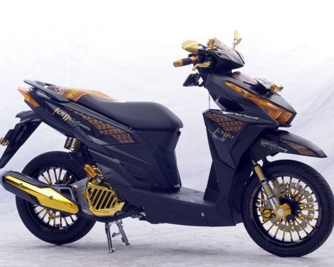 Modifikasi Honda Vario 125 Touring Elegan Motor Sepeda Motor Modifikasi Sepeda Motor