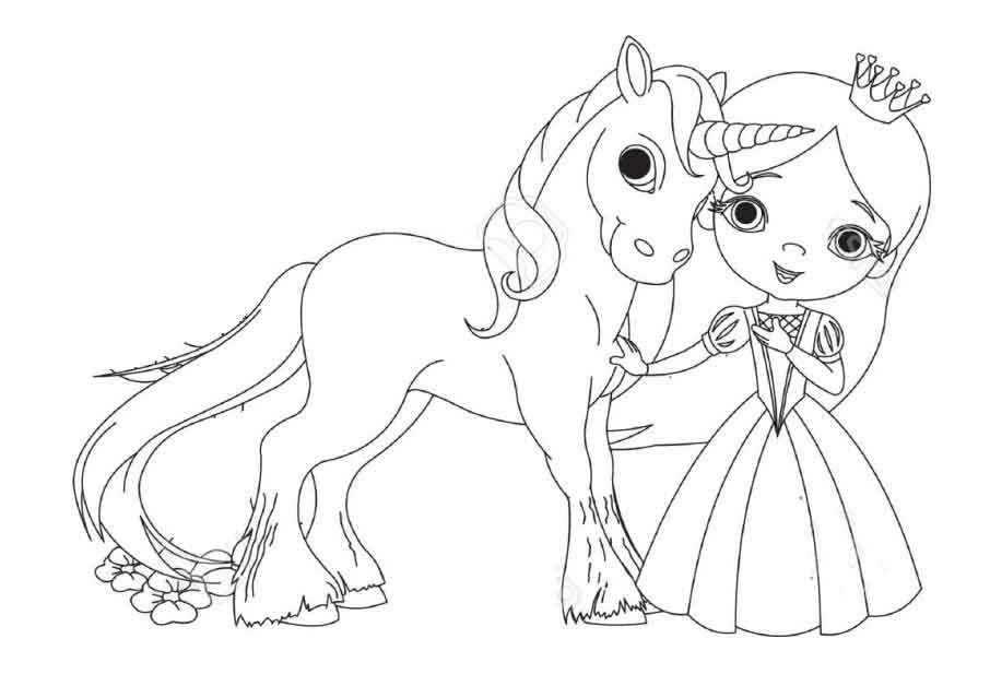 Fairy And Unicorn Colouring Pages To Printable Coloring Fairy And Ausmalbilder Ausmalen Malvorlagen