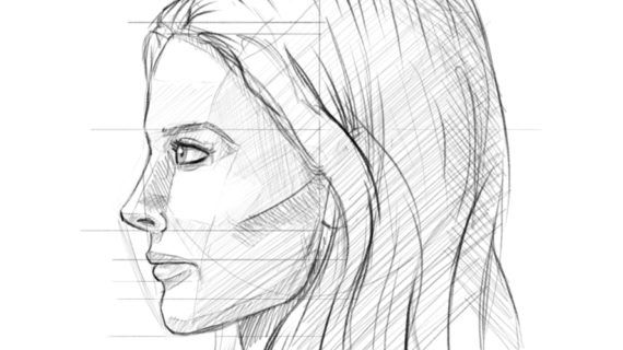 side profile face drawing how to draw the female face side profile