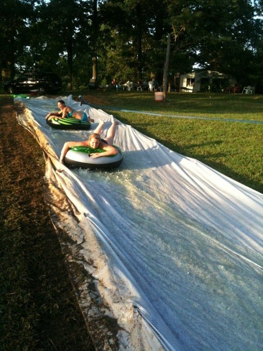 Rachel! We should do this at the lake house!! (and