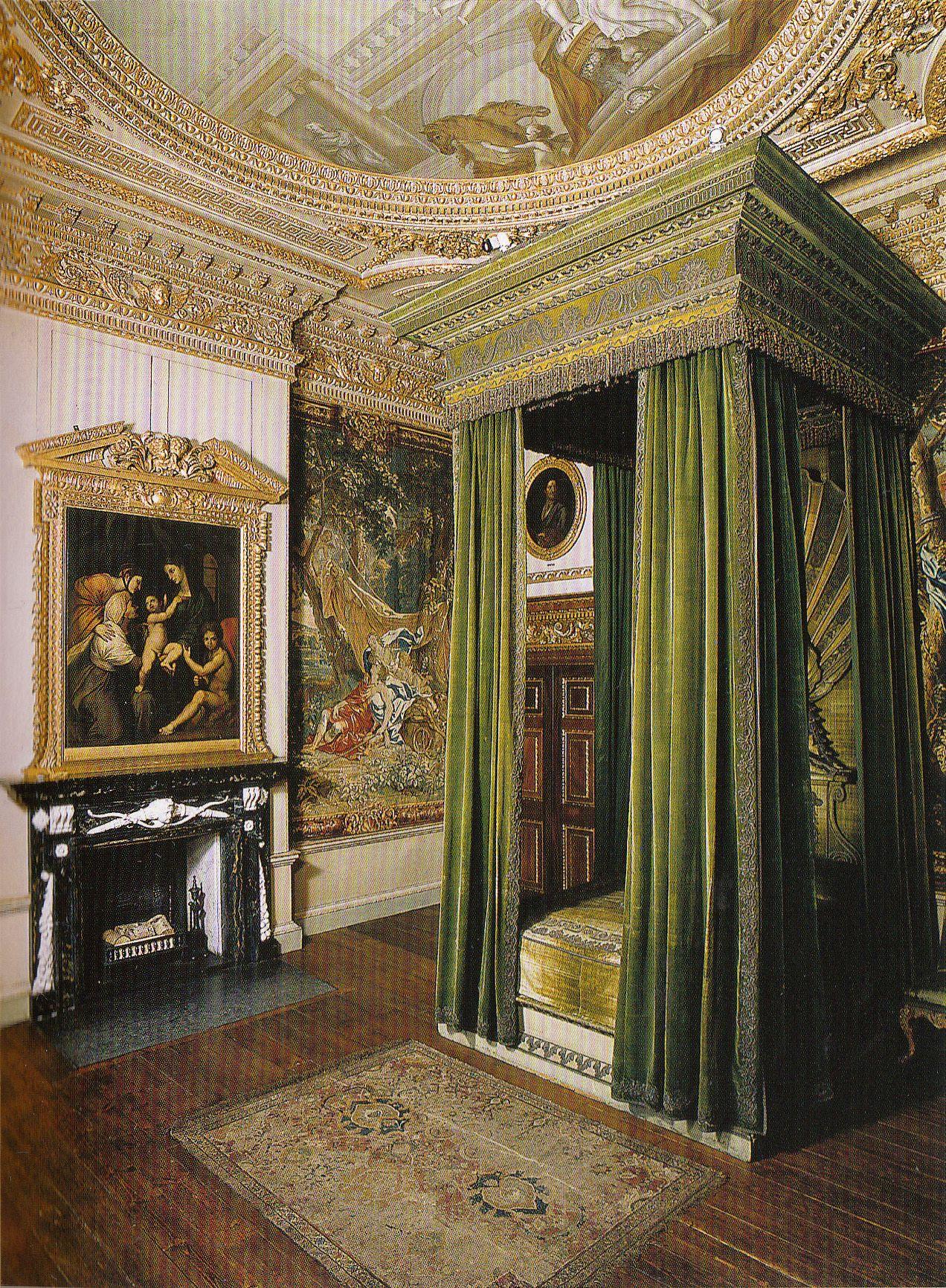 Houghton Hall Green Velvet Bedchamber. Original