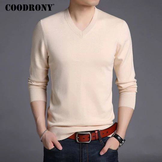 COODRONY Sweater Men Autumn Winter Thick Warm Pullover Men Casual VNeck Pull Homme Solid Col COODRONY Sweater Men Autumn Winter Thick Warm Pullover Men Casual VNeck Pull...