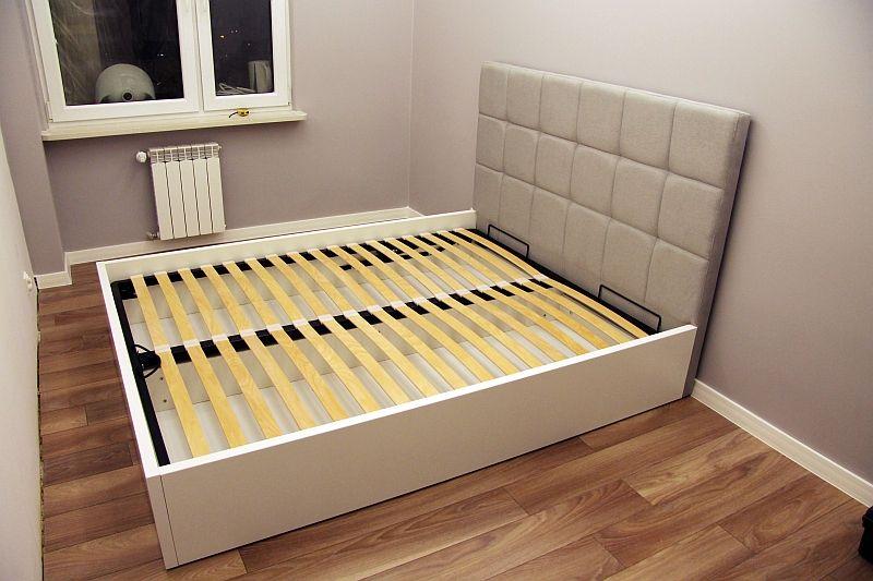 łóżko Tapicerowane W Panele Sypialnia