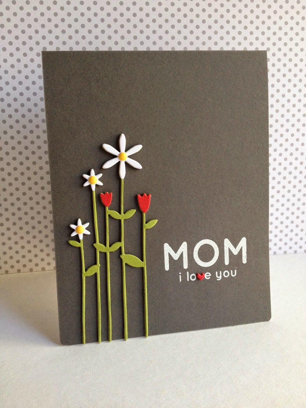 Tall Flowers For Mom Simon Says Mothers Day Cards Cards