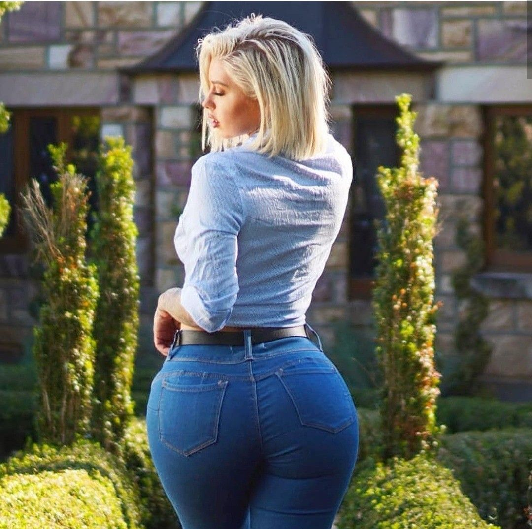 Sexy Girl Wearing Tight Jeans Shorts Stock Photo