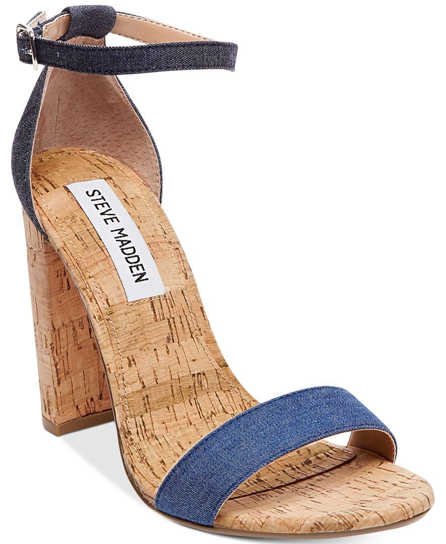 ba1ef8fd08b Steve Madden Women s Carrson Two-Piece Cork-Block-Heel Sandals
