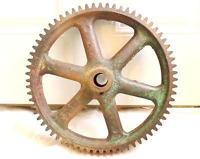 Antique Large Cast Iron Industrial Gear Wheel Cog Sprocket Rustic Steampunk Art Gear Wheels Industrial Gears Antique Tractors