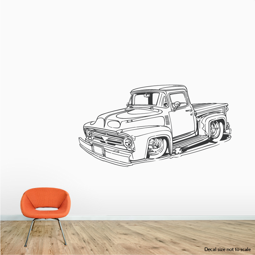 Ford Pickup Truck Wall Decal #oldtruck #fordtruck  sc 1 st  Pinterest & Ford Pickup Truck Wall Decal #oldtruck #fordtruck | Cards/crafts ...