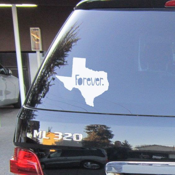 Texas Forever Car Decal Unique Custom Bumper Sticker To Show Your - Custom car bumper stickers