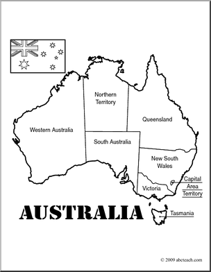 australia map coloring page - Australia Coloring Pages Printable
