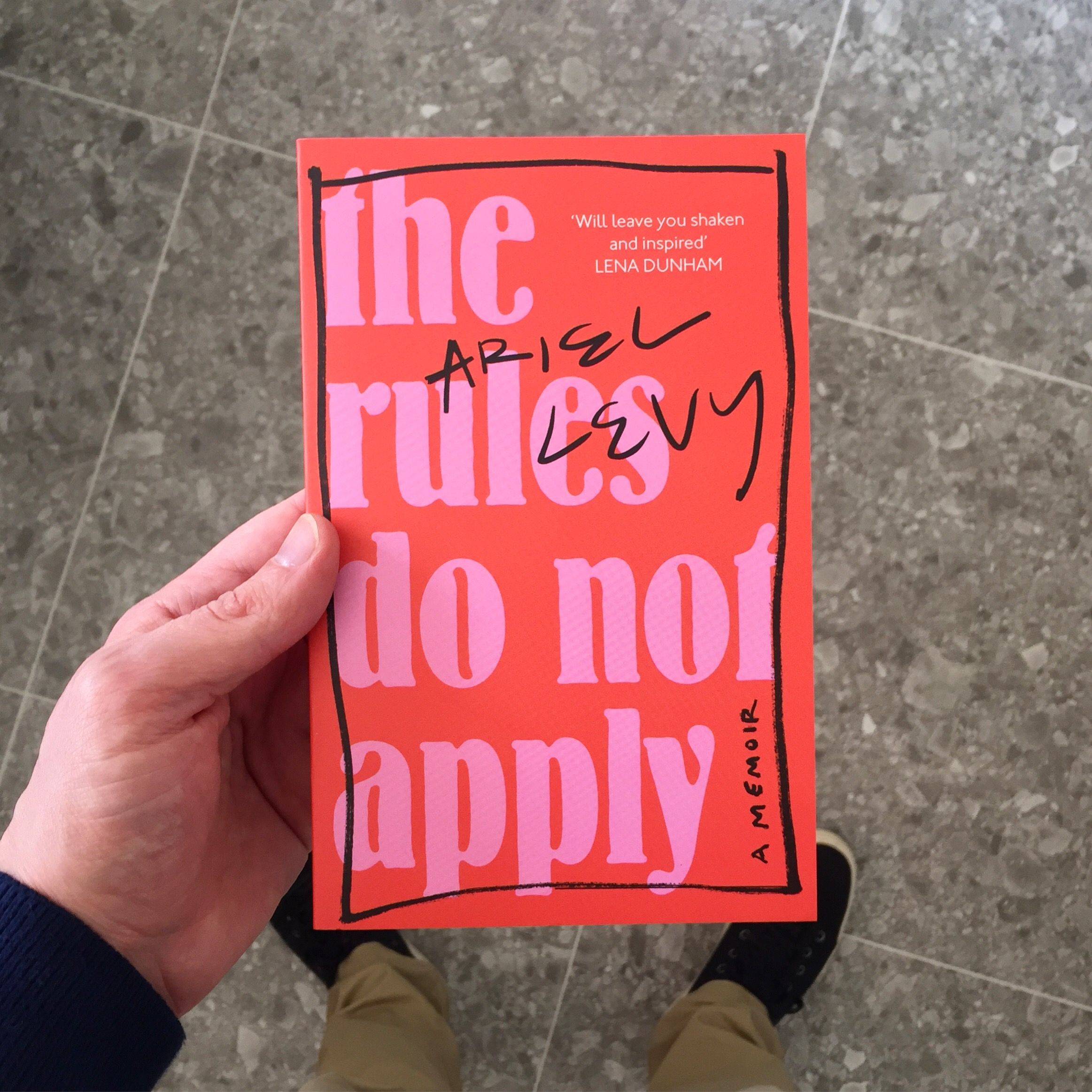 Recommending 'The Rules do not Apply' by Ariel Levy.