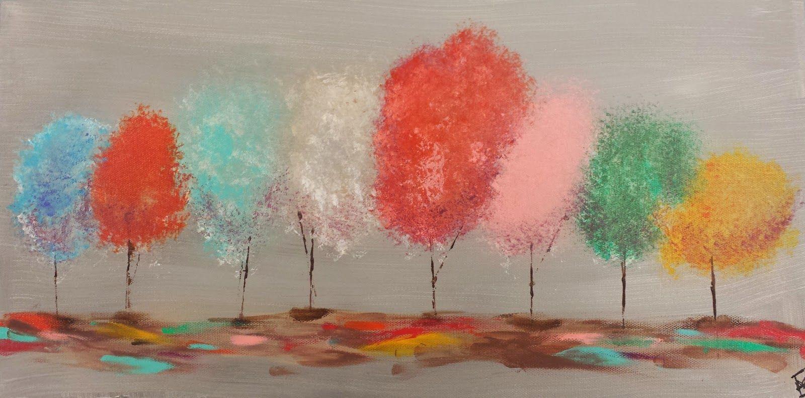 Angela Anderson Art Blog Easy Tree Painting
