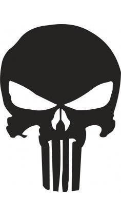 Punisher Skull Stencil Vector Free Vector Skull Stencil Punisher Punisher Artwork