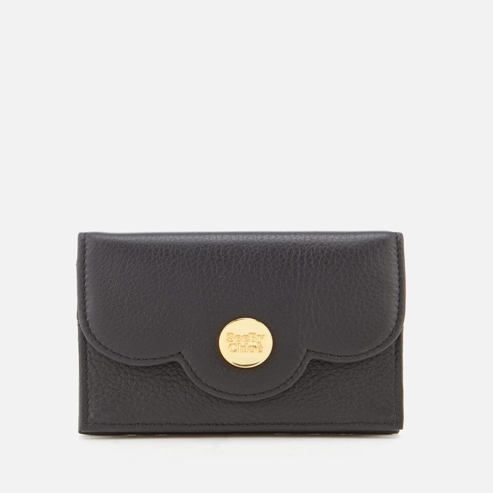 3bc2db8e91 See By Chloé Women's Card Holder - Black here at MyBag - the only ...