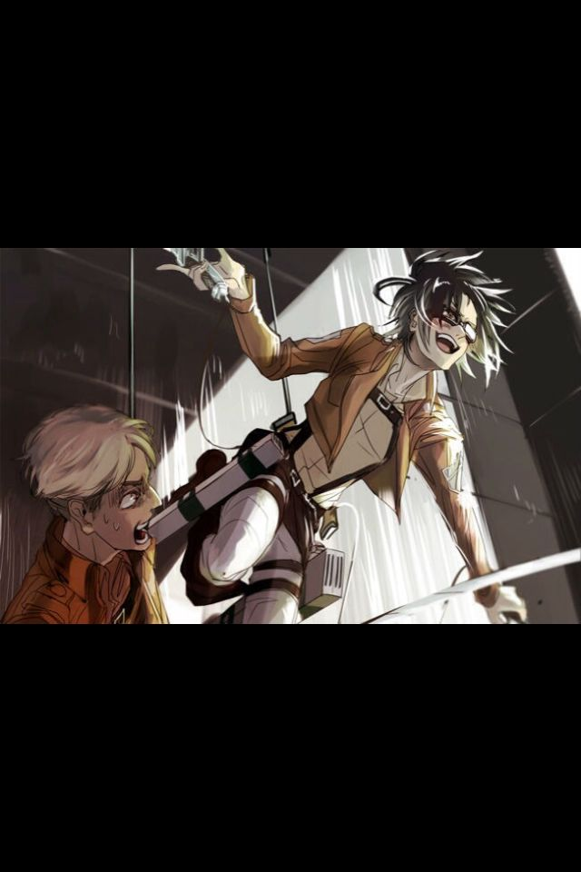 Hange and Moblit   Attack on titan ships, Attack on titan, Anime