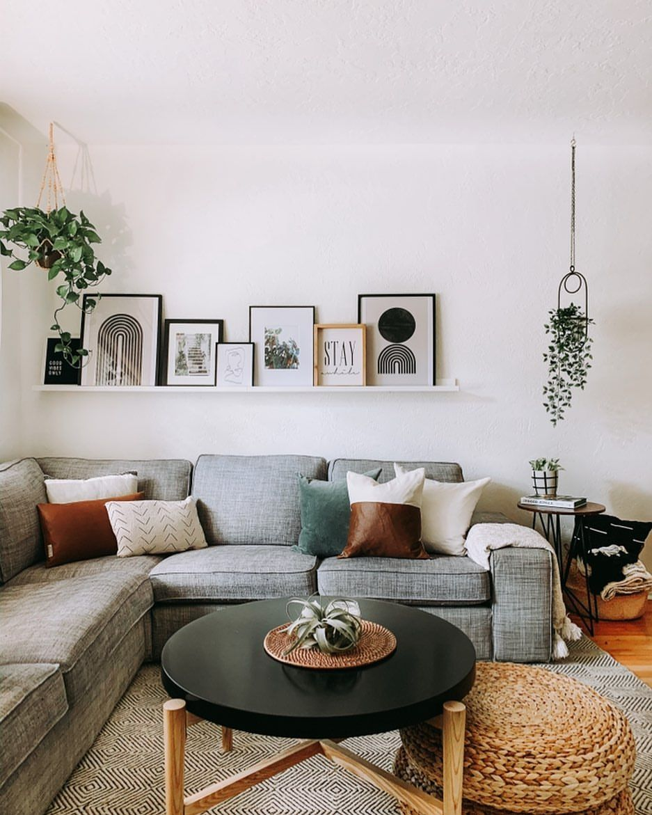 saying goodbye — to the grey couch it'll be olive