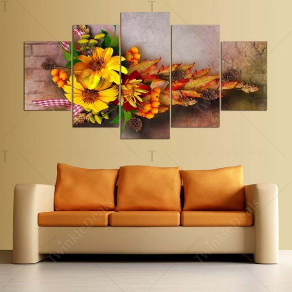 Flowers Printed Wall Art Split Canvas Paintings - 1pc:8*20,2pcs:8*12 ...